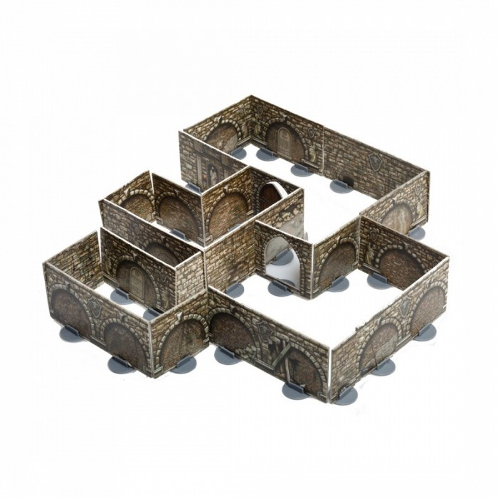 Умная бумага Конструктор подземелья Стены на подставках 3D