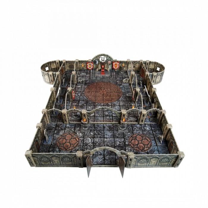 Умная бумага Игровой набор из картона Подземелье Храм Тронный зал