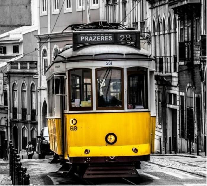 Купить Картины по номерам, Котеин Картина по номерам Старинный трамвай 30х30 см