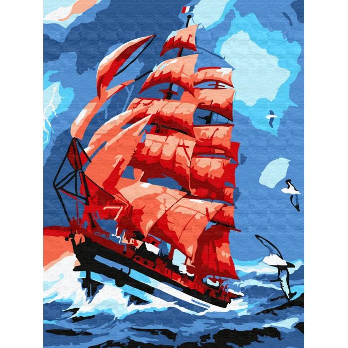 Купить Картины по номерам, Molly Картина по номерам Алые паруса 20х15 см