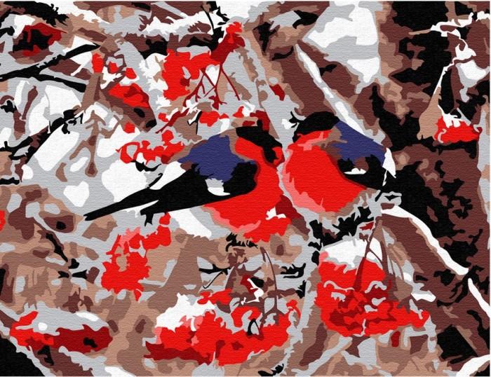 Купить Картины по номерам, Molly Картина по номерам Снегири 20х15 см