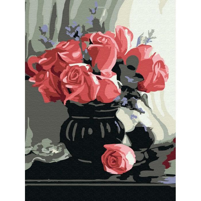 Купить Картины по номерам, Molly Картина по номерам Розы 20х15 см