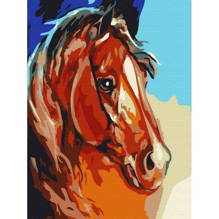 Картины по номерам, Molly Картина по номерам Рыжий конь 20х15 см  - купить со скидкой