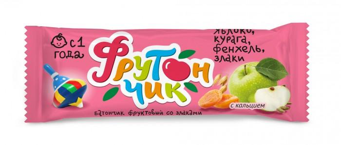Печенье Фрутончик Батончик фруктовый со злаками Яблоко, курага, фенхель, злаки 20 г