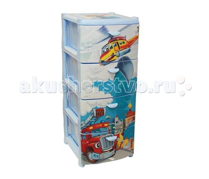 Ящики для игрушек Idea (М-Пластика) Комод Спасатели 4-х секционный м пластика