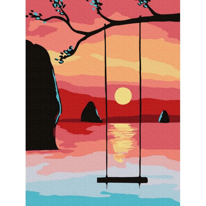 Купить Картины по номерам, Molly Картина по номерам Летний закат 20х15 см