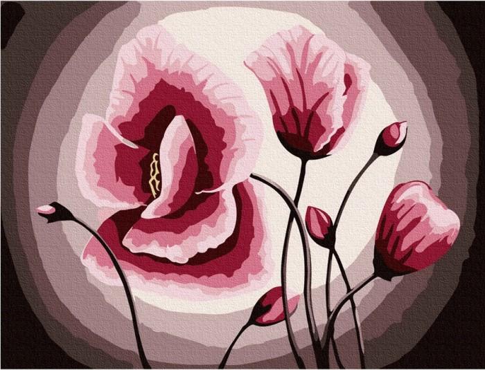 Купить Картины по номерам, Molly Картина по номерам Розовые маки 20х15 см