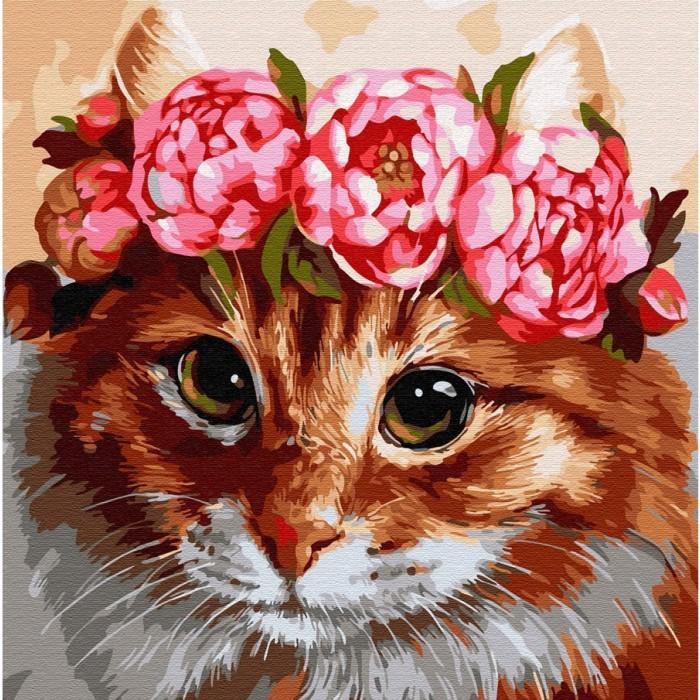 Купить Картины по номерам, Molly Картина по номерам Пушистая красотка 30х30 см