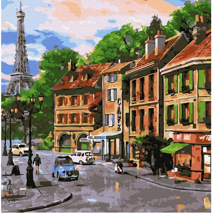 Купить Картины по номерам, Molly Картина по номерам Улочки Парижа 30х30 см