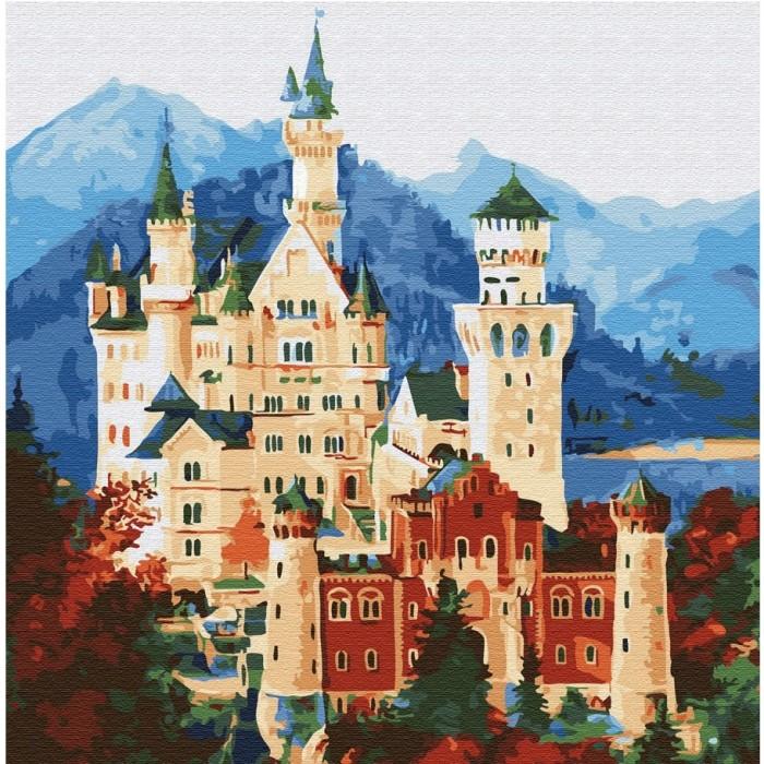 Купить Картины по номерам, Molly Картина по номерам Средневековый замок 30х30 см