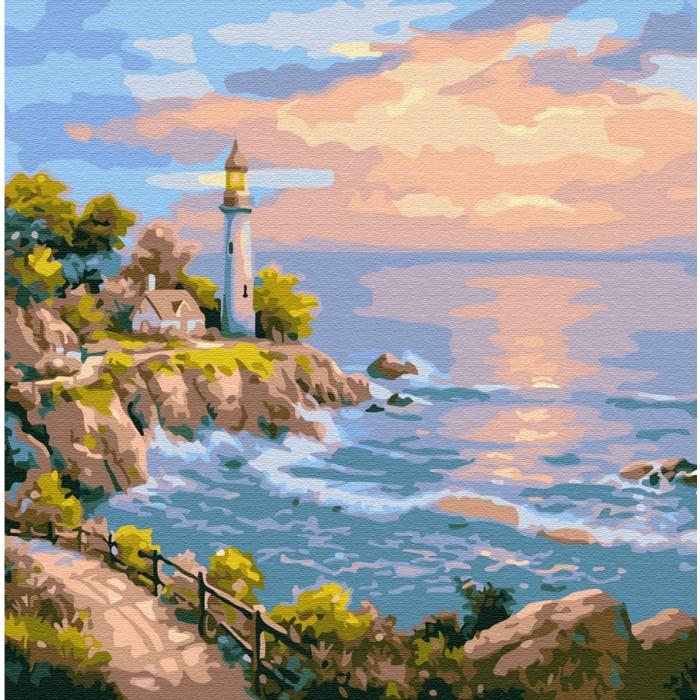 Картины по номерам Molly Картина по номерам Маяк на заливе 30х30 см