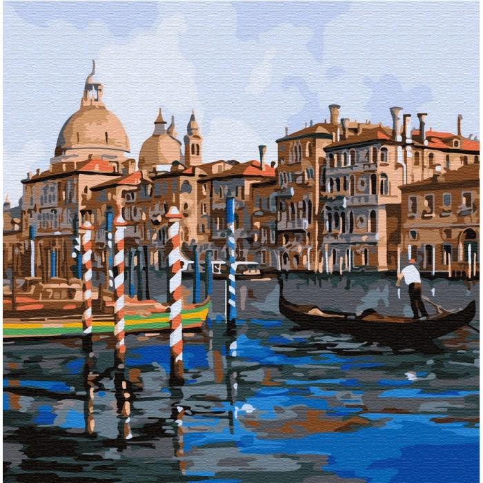 Купить Картины по номерам, Molly Картина по номерам Каналы Венеции 30х30 см