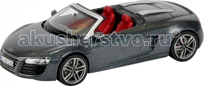 Schuco Автомобиль Audi R8 Spyder, серый 1:43Автомобиль Audi R8 Spyder, серый 1:43Автомобиль Audi R8 Spyder, серый 1:43, 20/40 450752300  Автомобиль Schuco Audi R8 Spyder - впечатляющий подарок для вашего любимого ребенка. Малыш будет гордиться своей игрушкой. Данная модель точно повторяет дизайн настоящего взрослого прототипа. Корпус изготовлен из высококачественных и прочных материалов.<br>