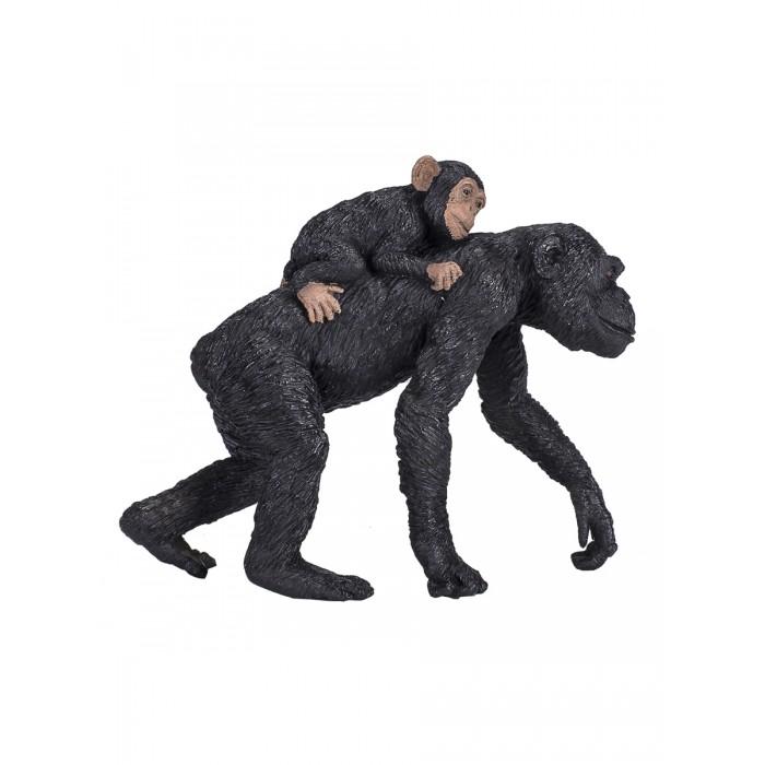 Mojo Animal Planet Фигурка Шимпанзе самка с детенышем L 387264