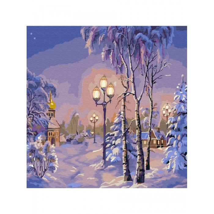 Купить Картины по номерам, Molly Картина по номерам Зимний вечер 30х30 см