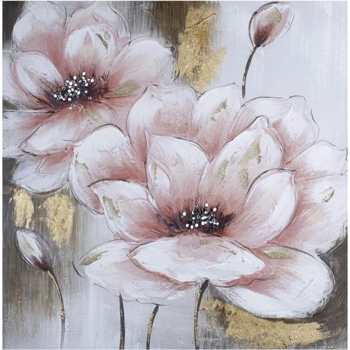 Картины по номерам Molly Картина по номерам Розовые цветы 30х30 см