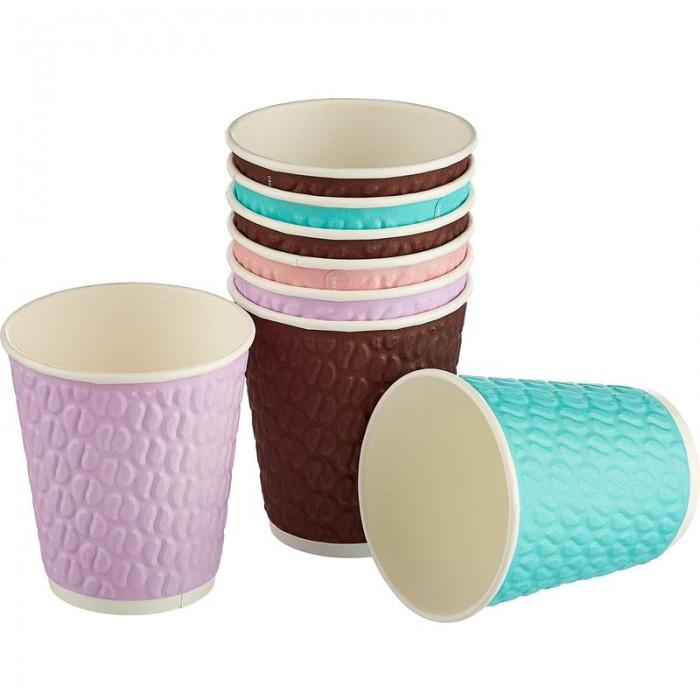 Купить Товары для праздника, Huhtamaki Стакан одноразовый бумажный Кофейные зерна 200 мл 37 шт.