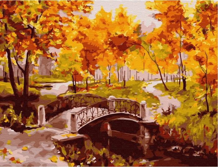 Картины по номерам Molly Картина по номерам с цветной схемой на холсте Золотая осень 40х30 см картины по номерам molly картина по номерам с цветной схемой на холсте настроение 40х30 см
