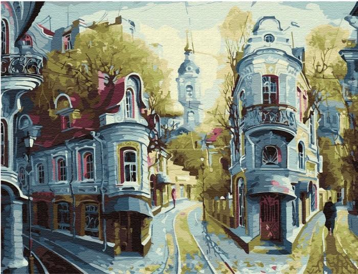 Картины по номерам Molly Картина по номерам с цветной схемой на холсте Улочки Старой Москвы 40х30 см картины по номерам molly картина по номерам с цветной схемой на холсте настроение 40х30 см