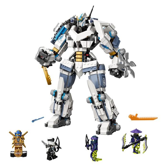 Фото - Lego Lego Ninjago Битва с роботом Зейна конструктор lego ninjago бронированный носорог зейна
