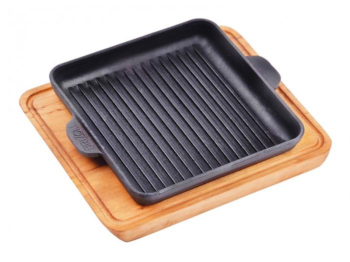 Посуда и инвентарь TimA Сковорода-гриль квадратная с дощечкой Brizoll 18х18 см