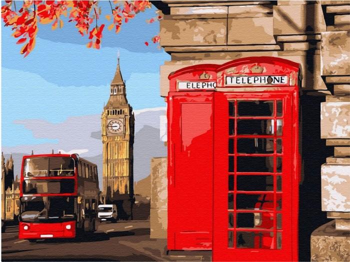 Картины по номерам Molly Картина по номерам с цветной схемой на холсте Улицы Лондона 40х30 см картины по номерам molly картина по номерам с цветной схемой на холсте настроение 40х30 см