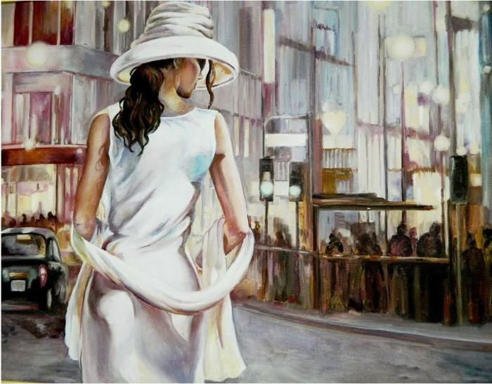 Купить Картины по номерам, Molly Картина по номерам с цветной схемой на холсте Незнакомка 40х30 см