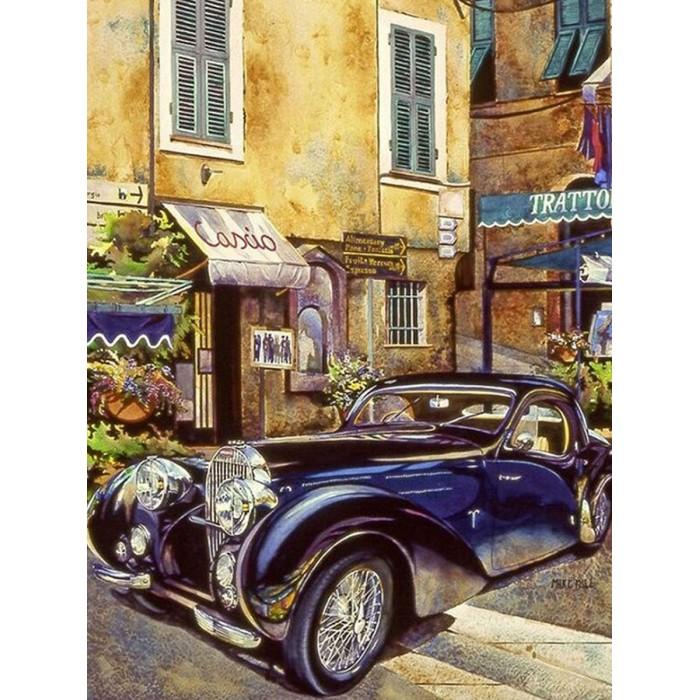 Купить Картины по номерам, Molly Картина по номерам с цветной схемой на холсте Бугатти 1939 г. 40х30 см