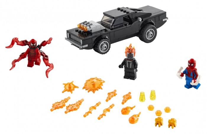 Конструктор Lego Super Heroes Человек-Паук и Призрачный Гонщик против Карнажа