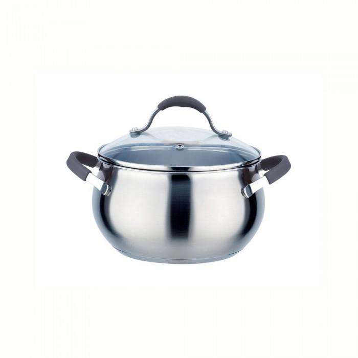 Фото - Посуда и инвентарь TimA Кастрюля с крышкой Удобная 2.8 л кастрюля 7 л tima fashion fm 2415