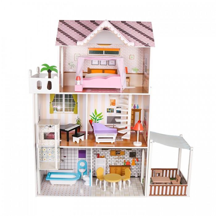 Фото - Кукольные домики и мебель Lanaland Кукольный домик Синди кукольные домики и мебель наша игрушка игровой набор кукольный домик 12 предметов