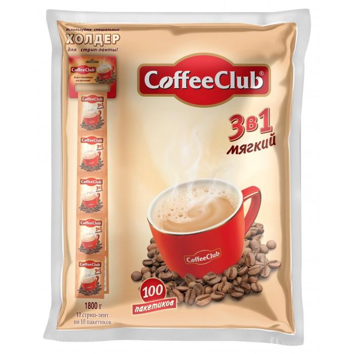 Купить Кофе, Coffee Club Напиток кофейный растворимый 3 в 1 Мягкий 100 пак.