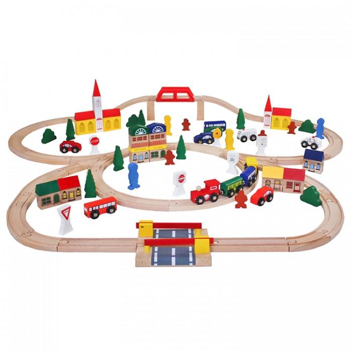 Железные дороги Lanaland Железная дорога из дерева (100 предметов)