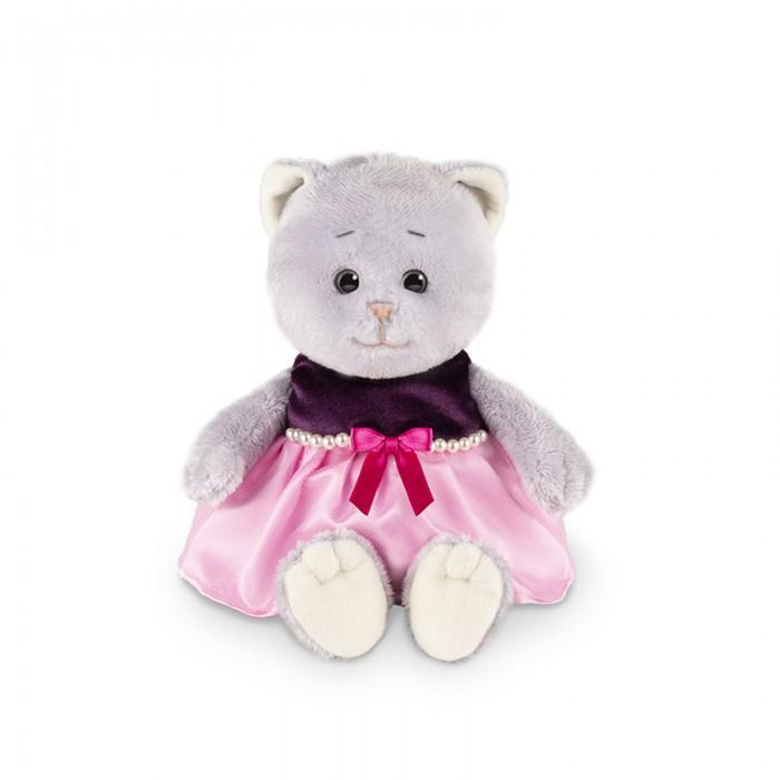 Мягкая игрушка Колбаскин&Мышель Мышель в фиолетовом платье в коробке 20 см