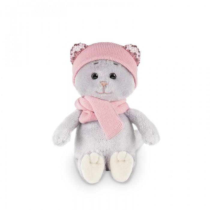 Мягкая игрушка Колбаскин&Мышель Мышель в шарфе и шапке в коробке 20 см