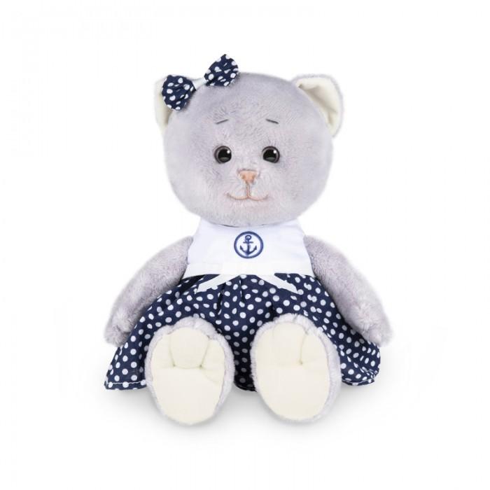 Мягкая игрушка Колбаскин&Мышель Мышель в синей юбке в белый горошек в коробке 25 см
