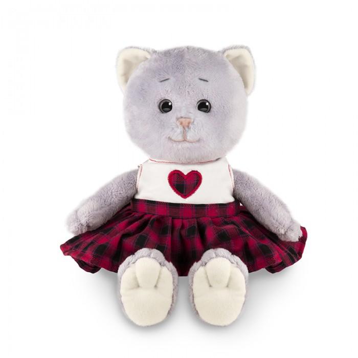 Мягкая игрушка Колбаскин&Мышель Мышель в клетчатой юбке в коробке 25 см
