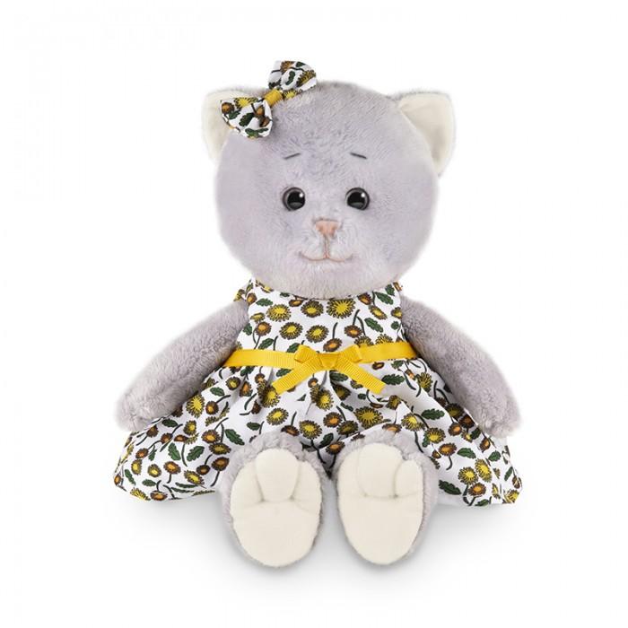 Мягкая игрушка Колбаскин&Мышель Мышель в летнем платье с цветным принтом в коробке 25 см