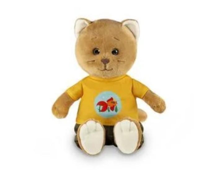 Мягкая игрушка Колбаскин&Мышель Колбаскин в желтой футболке и вельветовых штанах в коробке 25 см