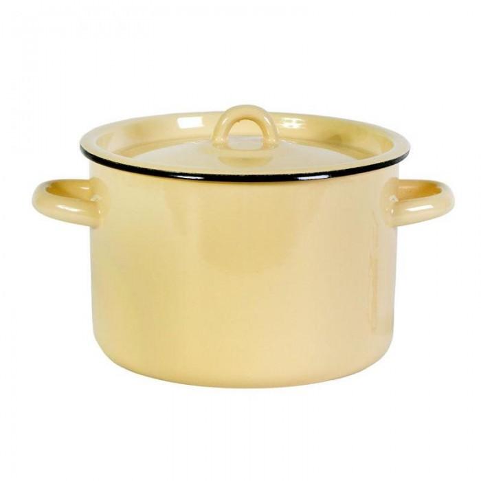 Посуда и инвентарь СтальЭмаль Кастрюля эмалированная без рисунка 2,9 л