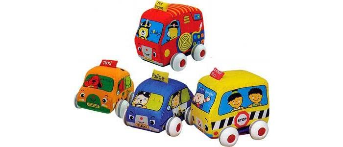 K'S Kids Машинки мягкие с инерционным механизмом 4 шт.