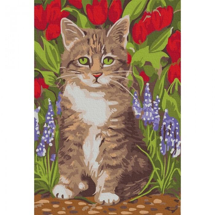 Купить Картины по номерам, Molly Картина по номерам Котёнок в саду 20х30 см