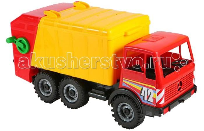 Машины Лена Машина Мусоровоз 57004/08812 мусоровоз orion камакс мусоровоз 765 разноцветный в ассортименте