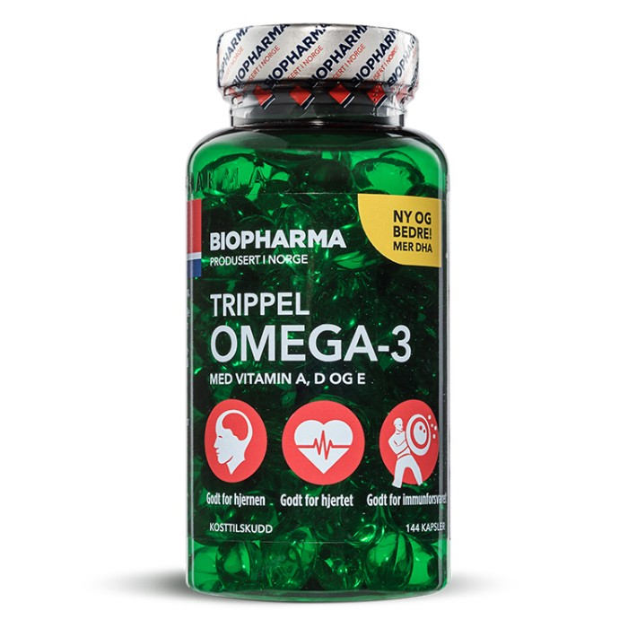 Biopharma Рыбий жир Trippel Omega-3 144 капсулы