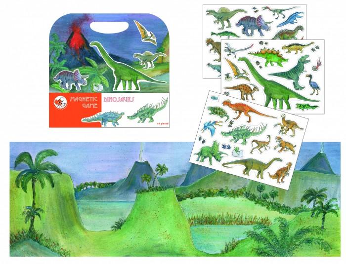 Игры для малышей Egmont Магнитная игра Динозавры 630665 эгмонт магнитная игра egmont toys в гостях у мишки