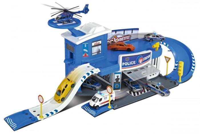 Игровые наборы Majorette Парковка полицейская станция Creatix + машинка машины majorette парковка пожарная станция cratix вертолет машинка