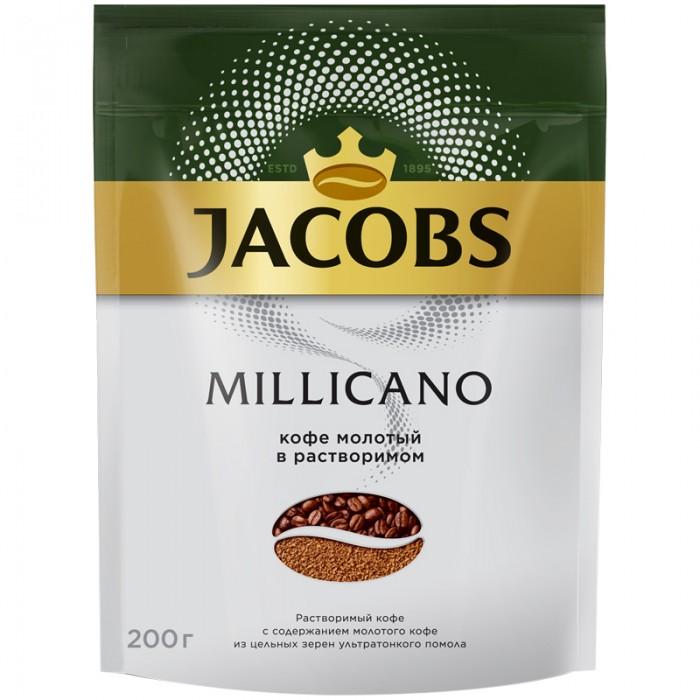 Jacobs Кофе растворимый Monarch Millicano сублимированный с молотым 200 г