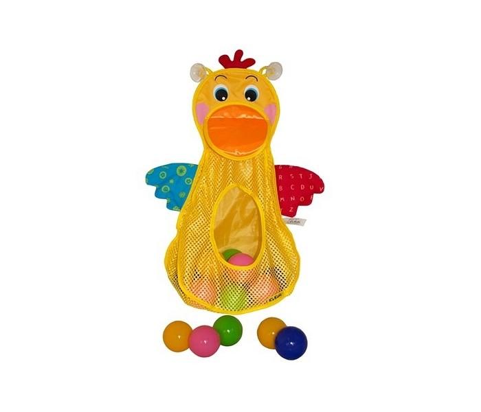 KS Kids Игровой набор для ванны Голодный пеликан с мячикамиИгровой набор для ванны Голодный пеликан с мячикамиKS Kids Игровой набор для ванны Голодный пеликан с мячиками не имеет одежды.  Особенности: Корзина на присосках в виде пеликана надежно крепится к стенке ванны.  В наборе имеются 10 шариков 4 цветов, которые можно просто высыпать в ванну. Ребенок может развлекаться, забрасывая пластмассовые шарики в желтую корзинку.  Тело пеликана представляет собой сетчатую корзину с небольшими крыльями и отверстием в центре.  С шариками можно будет играть не только в ванной, но и в других комнатах, на улице.  А в корзине-пеликане также можно хранить ванные принадлежности.<br>