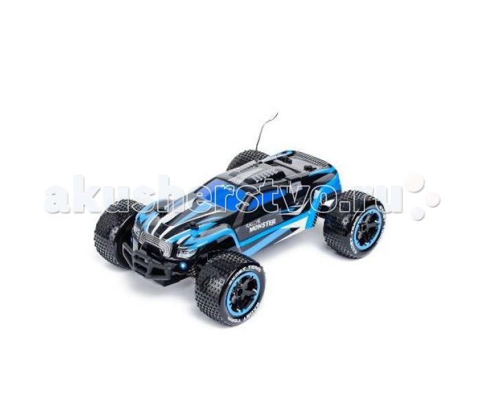 Silverlit Машина Ралли Монстр на радиоуправлении 1:14Машина Ралли Монстр на радиоуправлении 1:14Silverlit Машина Ралли Монстр на радиоуправлении 1:14 способна развить скорость до 15 км/ч.   Особенности: Машина имеет большие колеса с рельефными шинами, что обеспечивает прочное сцепление с поверхностью дороги.  Обтекаемой формы корпус разрисован стильными контрастными полосами синего цвета.  Ребенок может управлять быстрым автомобилем на расстоянии до 20 метров, устраивая скоростные гонки с друзьями. Тип батареек: 2 х AA / LR6 1.5V (пальчиковые). Время игры: 20 мин. Время зарядки: 2.5 ч. Дальность действия: 20 м.<br>