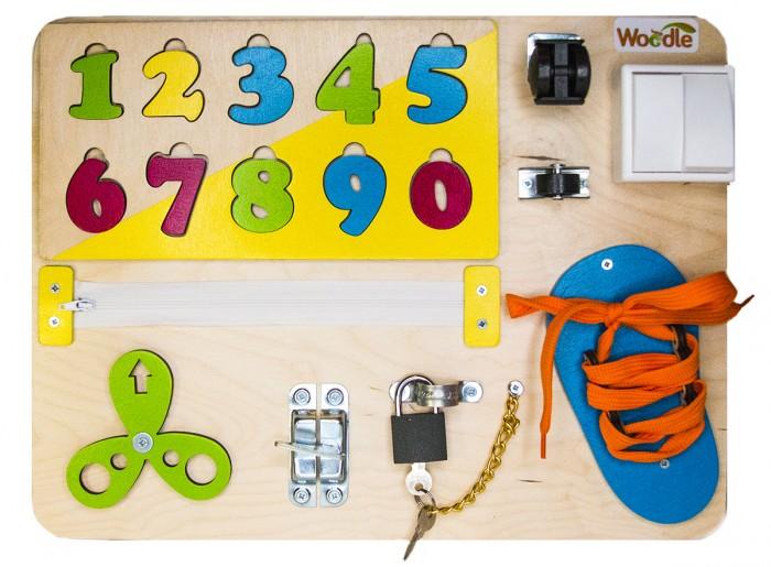 Купить Деревянные игрушки, Деревянная игрушка Woodle Бизиборд Бета Эко 30х40 см